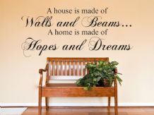 A House Is Made of Walls and Beams Wall Art, Sticker, Decal, Modern Transfer
